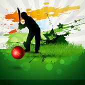 Cricket vector background — Stock Vector
