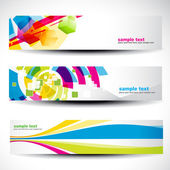 Abstract header set — Stock Vector