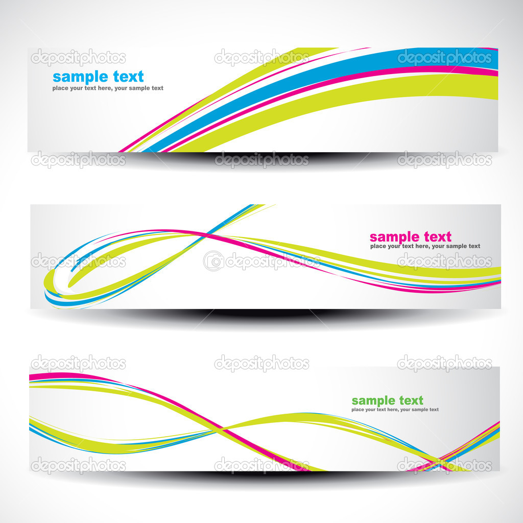 Abstract header vector set 2 — Stock Vector #5018485