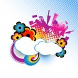 Cloud vector — Stock Vector