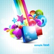 Abstract 3d shapes background — Image vectorielle
