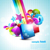 Abstract 3d shapes background — ストックベクタ