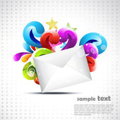 Vector mail art — Stock Vector