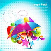 Güzel şemsiye tasarımı — Stok Vektör