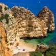 Algarve rock - coast in Portugal — Stok fotoğraf