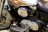 Glamor motorcycle — Stock Photo