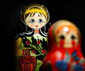 Russian national babushka matroschka — Stock Photo