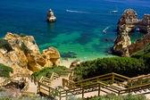 Algarve kaya - sahili portekiz — Stok fotoğraf