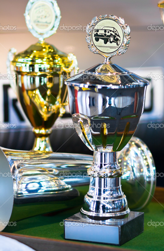 Trophy for car race winning or