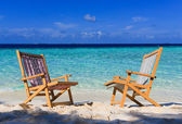 Relaxing on tropical paradise — Stock Photo