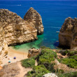 Foto de Stock  : Algarve rock - coast in Portugal