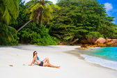 Anse lanzio strand van Seychellen — Stockfoto