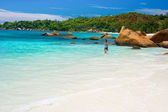 Anse Lanzio beach at Seychelles — Stock Photo