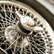 Stock Photo: Oldtimer backup wheel