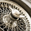 Oldtimer backup wheel — Stock Photo