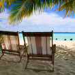 Relaxing on tropical paradise - Stock Photo