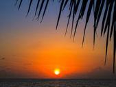 Maldivian Sunset — Zdjęcie stockowe