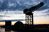 Glasgow - Crane Clydebank — Stock Photo