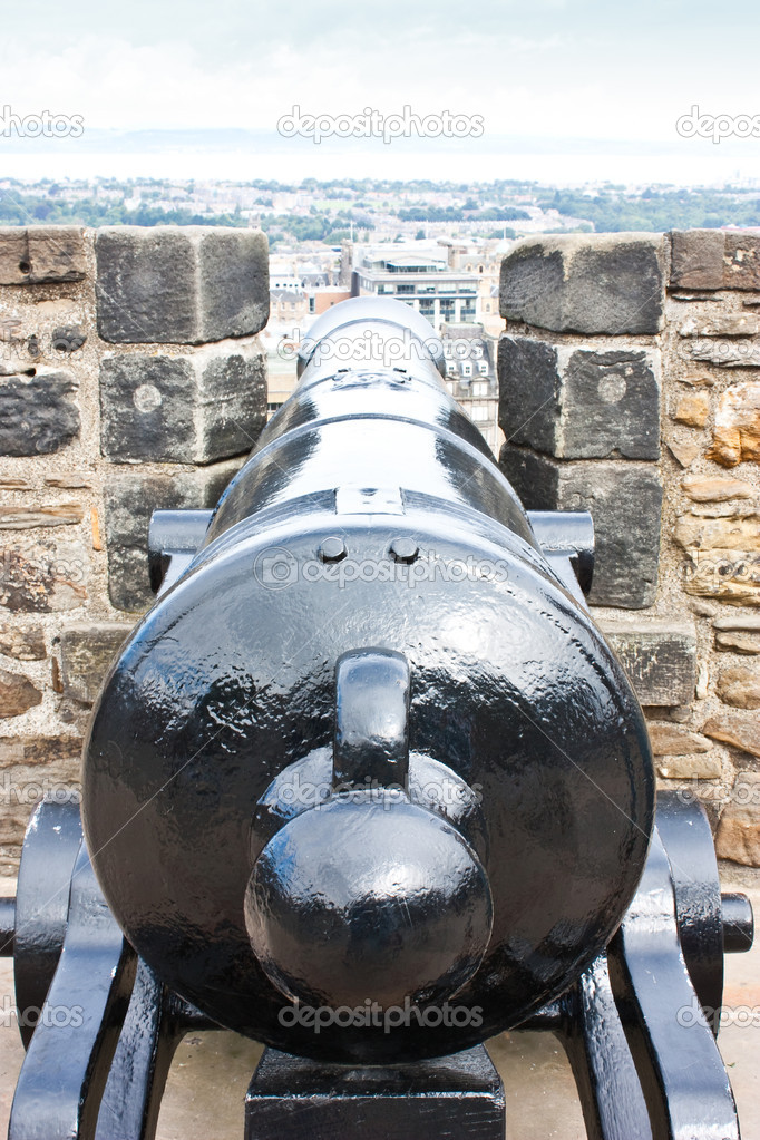 Traditional cannon, approximative 200 years old. Useful for concepts. — Stock Photo #4137922