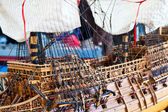Galleon model detail — Stock Photo