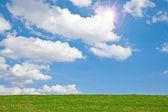 Prato con sky — Foto Stock