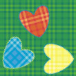 Royalty-Free Stock Vector Image: Heart-shaped patch sewn