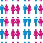 zwischen Heterosexualität und Homosexualität — Stockvektor  #3996081