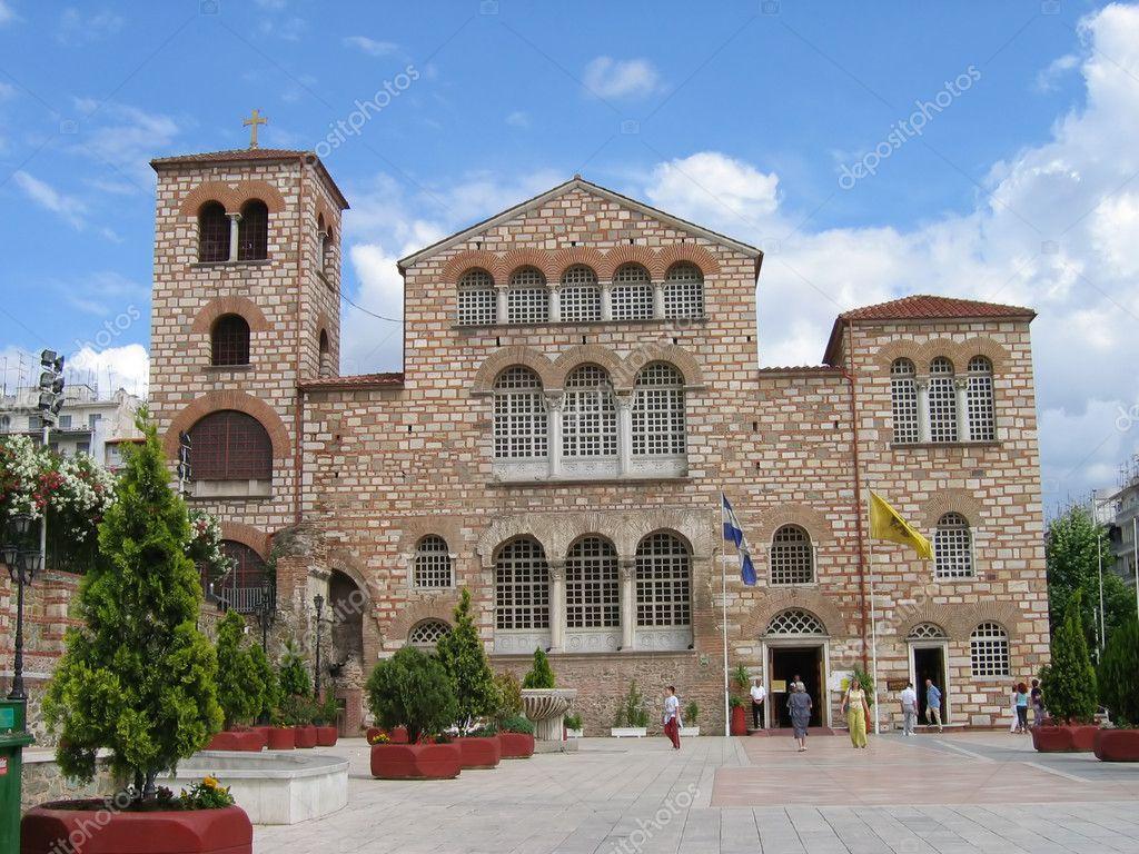 Thessaloniki, Agios Dimitrios Church — Stock Photo ...