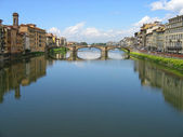 Rio Arno Ponte Vecchio — Stock Photo