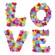 Background with the word Love — Stock Photo