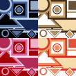 Set of backgrounds with geometrical shapes — Stock Photo #4002904