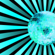 Blue discoball on disco background — Stock Photo #4002931