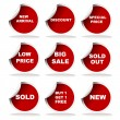 Royalty-Free Stock Photo: Set of red sale stickers and labels