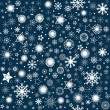 Photo: Snowflaks winter background