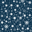 Foto Stock: Snowflaks winter background