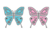 Colored butterflies — Stockfoto
