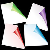 Set of colored curled glossy paper corners — Стоковое фото