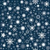 Snowflaks winter background — Stock Photo