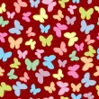 Stock Photo: Seamless pattern with butterflies in pastel tones