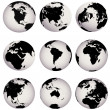 Stock Photo: Earth globes