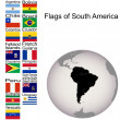 Flags of South America, the complete set — Stock Photo