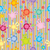 Stripes and bears pattern seamless, background for kids — Stock Photo