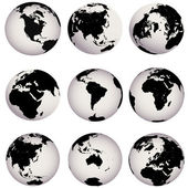 Earth globes — Stockfoto