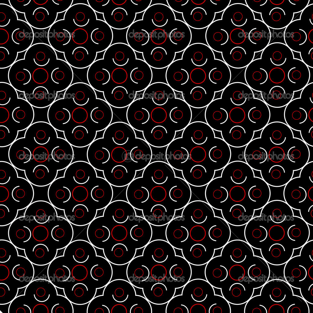 Retro background with geometrical shapes in red, black and white  Stock Photo #4309418