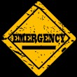 Stock Photo: Grunge sign with word emergency