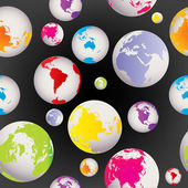 Seamless with colored Earth globes — Stock Photo