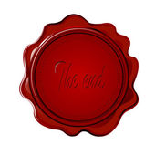 """Wax seal with """"the end"""" — Stock Photo"""