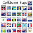 Caraibean's flags, no transparency — Stock Photo #4463652