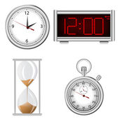 Set of time measurement instruments icons — Stock Photo