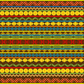 Ethnic African pattern with multicolored motifs — Stock Photo